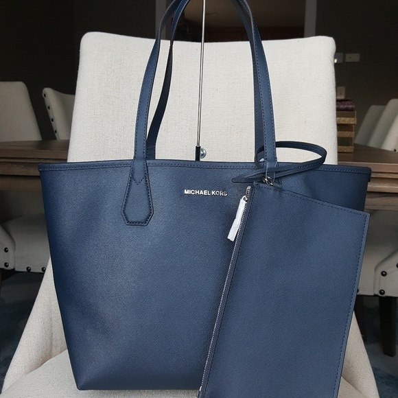 Candy Blue Steel Michael Tote Kors Navy Reversible cRALS54q3j